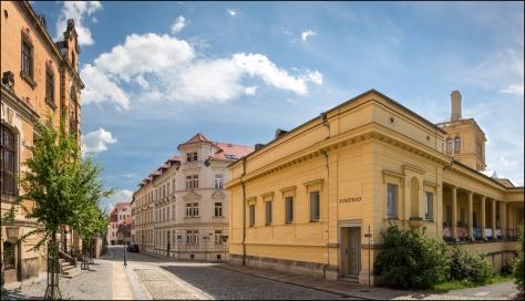 Blick in die Milchstraße mit Post und Stadtbad