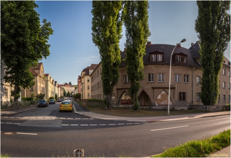 Blick in die Friedrich-Haupt-Strasse