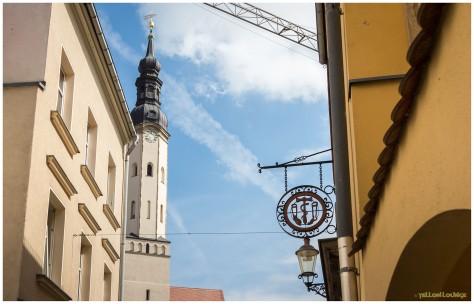 Sanitätshaus BRAUN | Glockenturm Klosterkirche | Baukran Baustelle Neues Magazin der Städtischen Museen