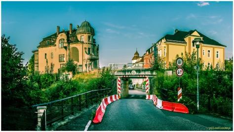 Komturstraße Verkehrsknotenpunkt - Verkehr drunter und drüber (Bimmelboahnl drunter : Liberec-Bahn drüber) - gerade ohne Verkehr...