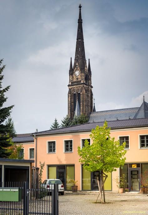 Korseltstraße - Blick zur Marienkirche