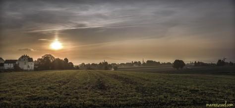 Sonnenaufgang und KohlErnte am Kummersberg