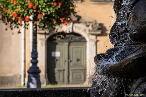 Alle Tropfen halten still, wenn der Fotograf es will... - Schwanenbrunnen