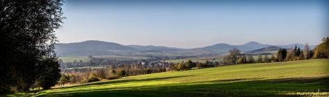 Blick vom Watzdorfheim Richtung Bertsdorf und Lausche