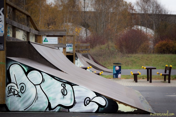 Graffiti am Skaterplatz 11.11.´14