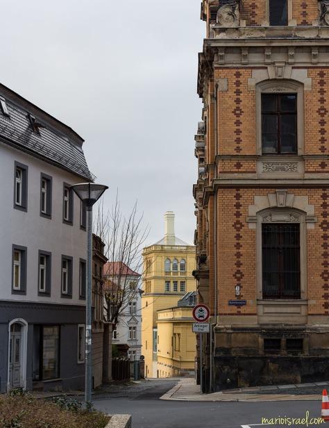Haberkornplatz | Blick zum Stadbad (Poststraße)