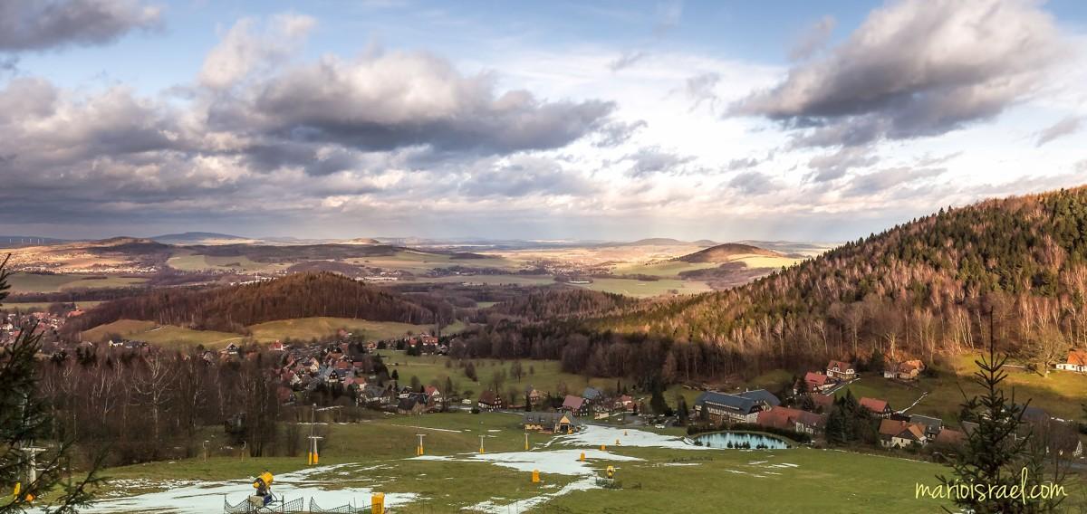 Blicke von der Lausche im Zittauer Gebirge