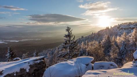 Auf dem Töpfer - Blick zur Morgensonne