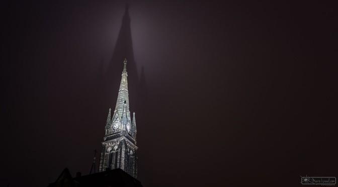 """Marienkirche Zittau mit """"Heiligenschein"""""""
